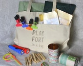Fort Kit - Play Fort in a Bag - Gift Ideas for Kids - Unique and Fun Play for Kids - Indoor Play - Pretend Play - Play Castle - Unique Gift