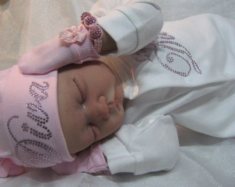"""Reduced For A Limited Time - Reborn baby girl doll Milly 22"""" big newborn 4lbs genesis paints realistic dollfake baby sleeping painted hair"""