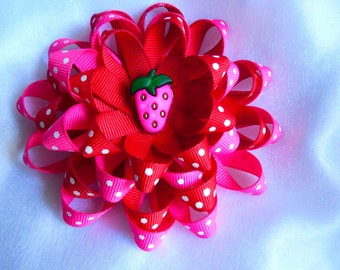 srawberry inspired hairclip