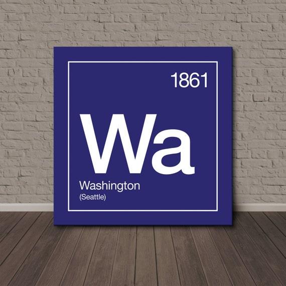 washington periodic table canvas wall art. Black Bedroom Furniture Sets. Home Design Ideas