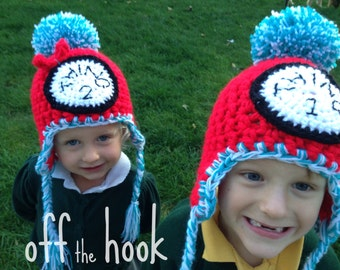 Things 1 and 2 crocheted hats