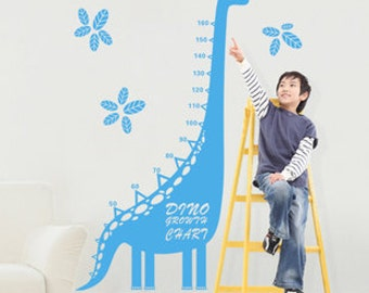 Dinosaurs growth chart wall decal growth chart wall sticker,height chart decal,dinosaur decal,kids growth chart--23 colors