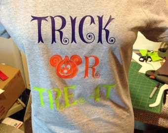 Disney Mickey Pumpkin Trick or Treat halloween t-shirt