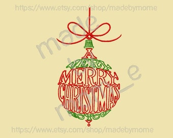 A Very Merry Christmas Ornament Embroidery (2 DESIGNS!!!)