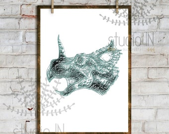 DINOSAUR PRINT #4# - Printable Instant Download, Dino Kids Room Decor, Dino Print, Boy room decor