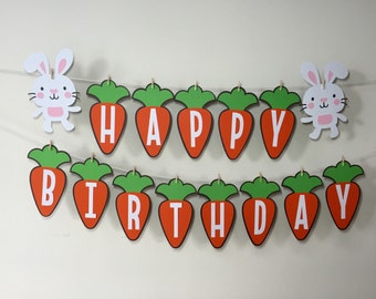 Happy Birthday Some Bunny Banner   Some Bunny Is One   Birthday Decorations   Party Banner   Bunny Birthday   Some Bunny Is Turning One