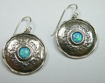 SHABLOOL sterling Silver 925 Earrings with opal stone E2325