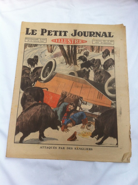 Le petit journal illustre vintage french newspaper paris - Sticker le petit journal ...