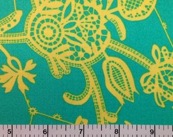 Amy Butler LARK SOUVENIR (MINERAL Color) 100% Cotton Premium Quilt Fabric - sold by 1/2 yard