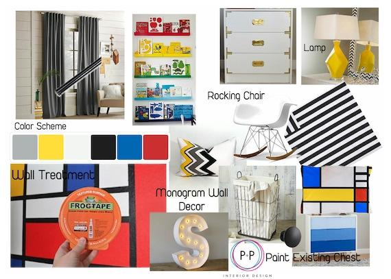 Kids Room Design E Design Service Mood Boards Interior