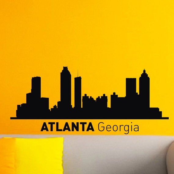 home decor outlet atlanta ga atlanta skyline city silhouette wall vinyl decal 12346