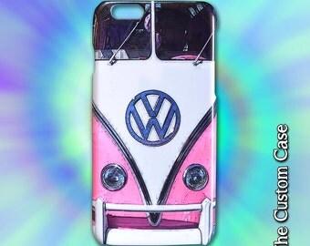 VW Van Iphone Case, Vintage Camper Van Iphone Case, Retro Pink Van Case, Iphone 4 case Iphone 5 case, Iphone 6 case Iphone 6 plus case