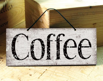 Wall Sign in Brown & White. Coffee Sign. Modern. Rustic. Coffee Shop Decor. Kitchen Sign. Restaurant Decor. Mothers Day Gift. Ready to Ship