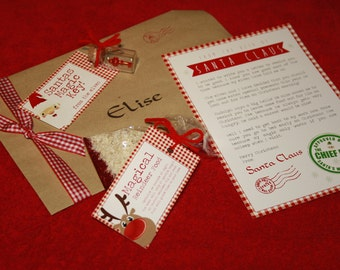 Letter from santa comes with personalised a5 envelope for Personalized letter from santa with reindeer food