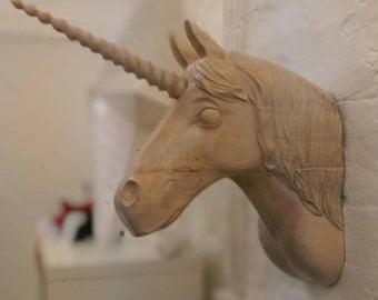 Unicorn Head Sculpture
