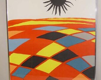 Alexander Calder Black Sun Signed Lithograph Litho