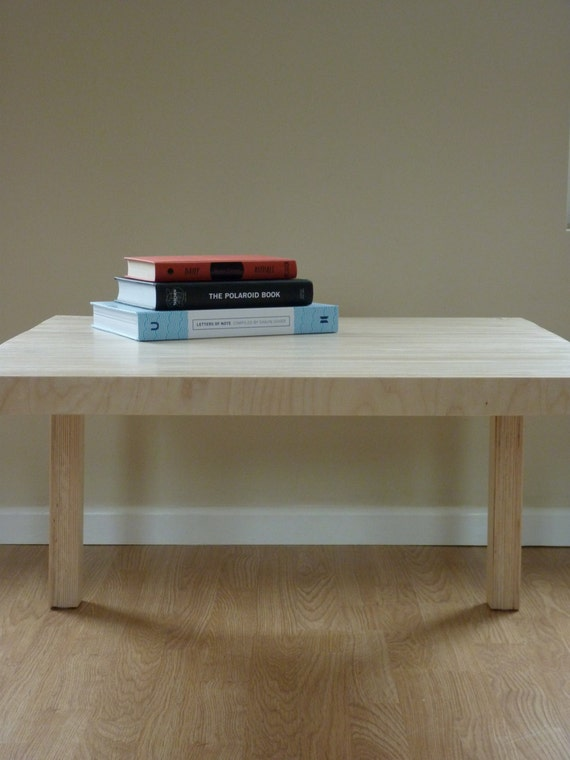 Plywood Console Table ~ Birch plywood coffee console table by fourleggedtable on