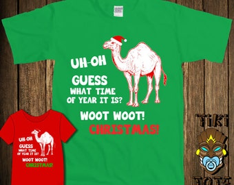 Funny Hump Day Camel Guess What Day It Is Christmas Bodysuit Toddler Youth T-shirt Tee Shirt Elf Santa Cute Infant Clothes Gift Present