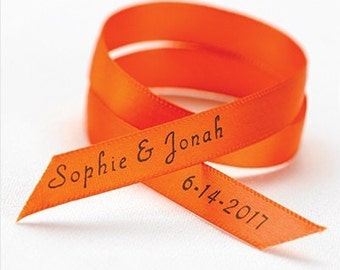 Personalized Satin Wedding Favor Ribbon (Set of 50)