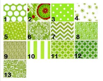 Green Window Valances-Window Treatments-You Choose Your Size and Pattern