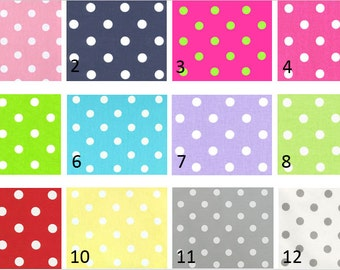 Nursery/Childrens Valance-Polka Dot Print Window Treatments-You Choose Your Size and Pattern