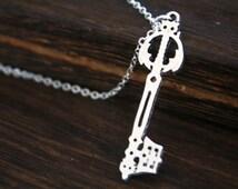 silver Kingdom Hearts Oblivion Keyblade Pendant necklace Christmas jewelry N700A