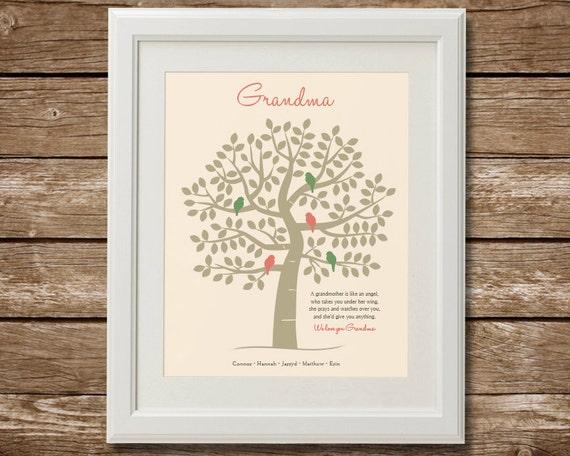 Family Tree Wedding Gift: Grandma Gift Family Tree Grandma Quote Christmas Gift From