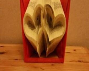 Linked Hearts Book Folding Pattern