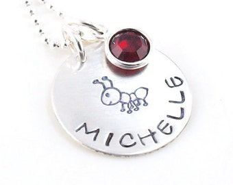 My Aunt Personalized Hand Stamped Necklace