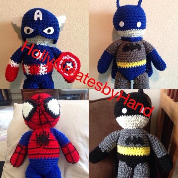 Batman Amigurumi Crochet Pattern Free : Crochet Amigurumi Batman Blue Batman Captain American