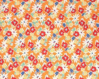 Snippets Garden Floral Orange American Jane for Moda Fat Quarter OOP HTF