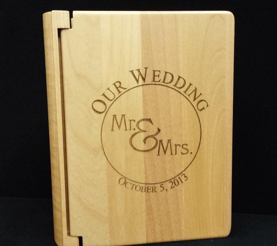 Custom wood wedding photo album 100 4x6 by lasercreationsbyisi - Customiser album photo ...