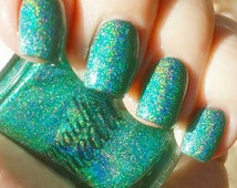 """Teal Holographic Spectraflair Glitter 5 Free Nail Polish """"Teal 2.0"""""""