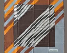 70's silk scarf by Pierre Balmain.Scarf designer. Vintage scarf. Geometric motif. 70's silk foulard. Accessories. Foulard for men and women.