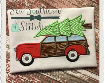 Woody Station Wagon ~ Christmas Tree ~ Instant Download