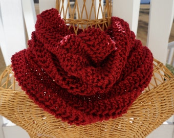 Knitted Infinity Cowl Neck Warmer
