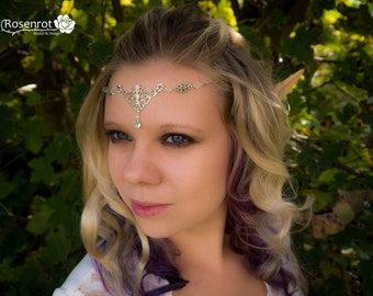 Medieval Renaissance Celtic Elves silver Hobbit Crown headband tiara headpiece