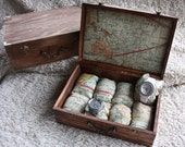Watch Box - Men's watch box. Watchbox- Personalized (add. fee). Travel Maps. Limited locations to customize.