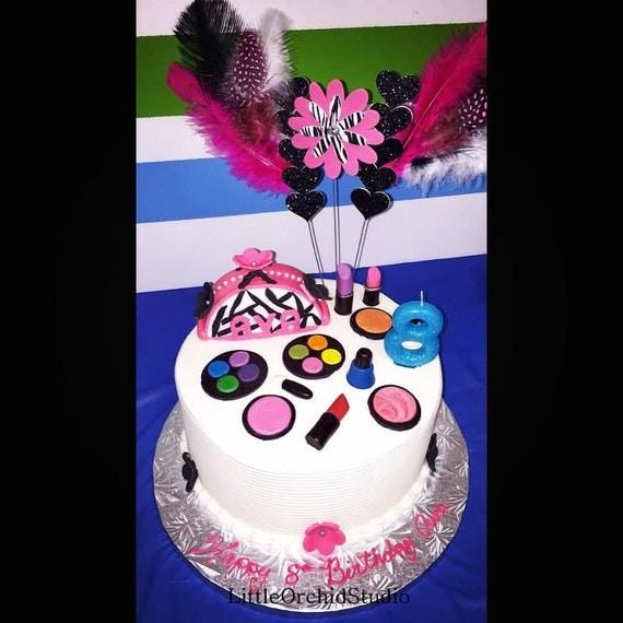 Edible Cake Decorations Makeup : Fondant Makeup/ Edible Makeup/ Makeup cake by ...