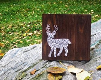 String Art Deer Elk Sign Wall Art