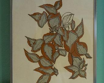 Jillian Field Signed Serigraph - Framed Art - Wall Decor - Wall Hanging Framed Picture