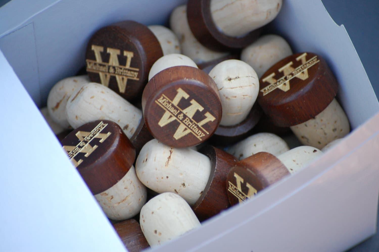 Rustic wedding favors wine corks custom wedding decor for Wine cork crafts for weddings