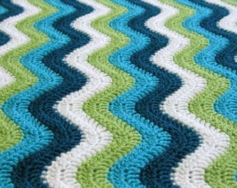CROCHET PATTERN and CHART: Smooth Ripple Baby Blanket
