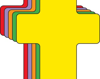 Cross Assorted Color Creative Cut-Outs
