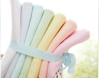 Plain colour Wide Baby cotton fabric  /best quality of cotton knitted cotton cloth/ baby cloth / slobber towel / children cloth--1/2 yard