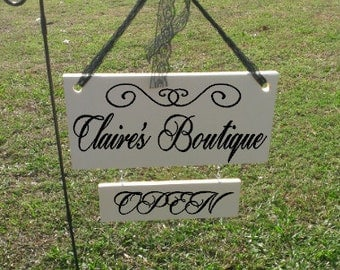 Boutique Open and Closed Sign-Store Sign-Shop Sign
