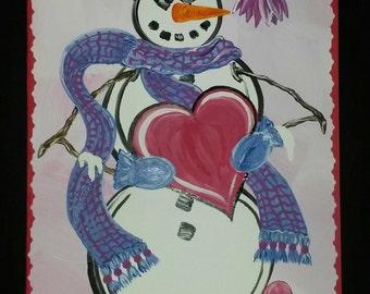 Derby Snowman Valentine