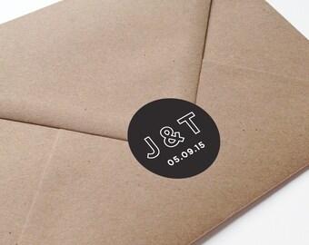 Wedding Monogram Stickers - custom stickers for wedding - monogram stickers - initial stickers for wedding - envelope stickers