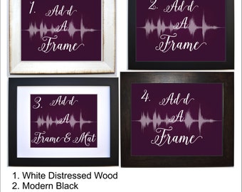 Add a frame or frame and mat to my order