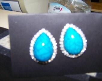 Clip Turq Earrings